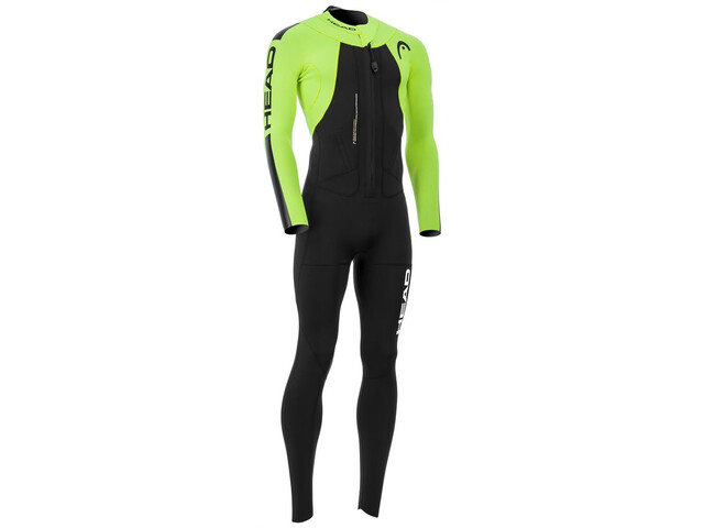 Head SwimRun Rough Suit Herre black/flourocent lime
